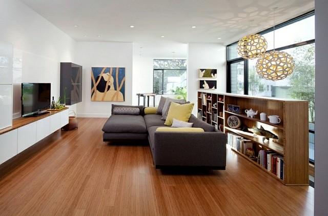 interieur moderne parquet canape fenetre tele
