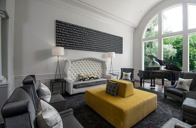 interieur retro canape ilot grande fenetre