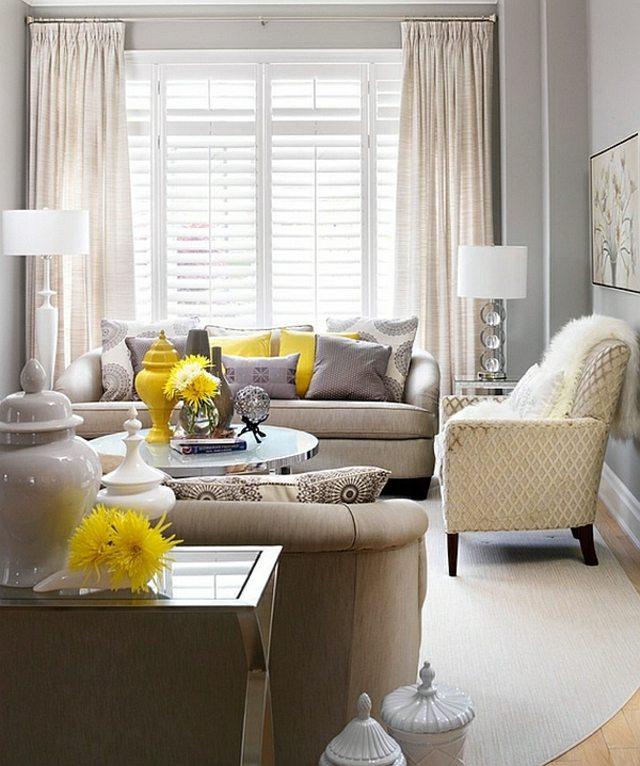 interieur retro fauteuil lumineux retro jaune