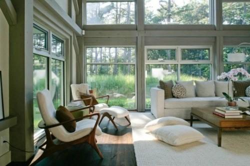 interieur sejour scandinave fauteuil menuiserie bois