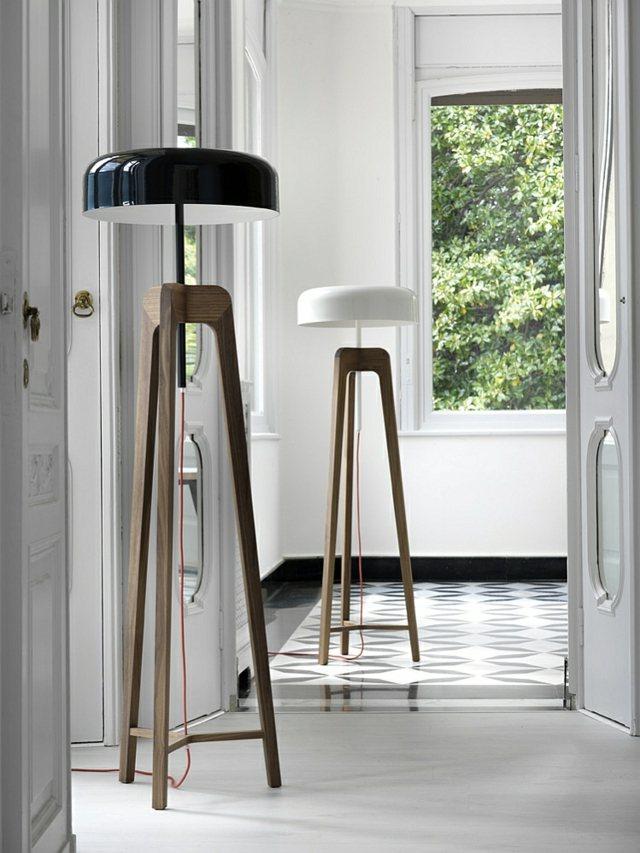 lampadaire salon pileo noir blanc