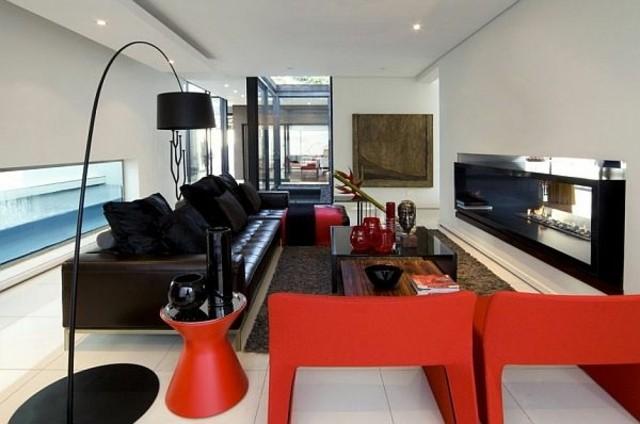 meubles deco noir rouge