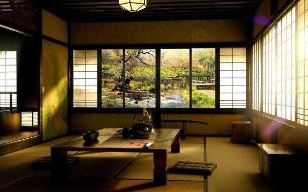 salle manger table basse japonaise