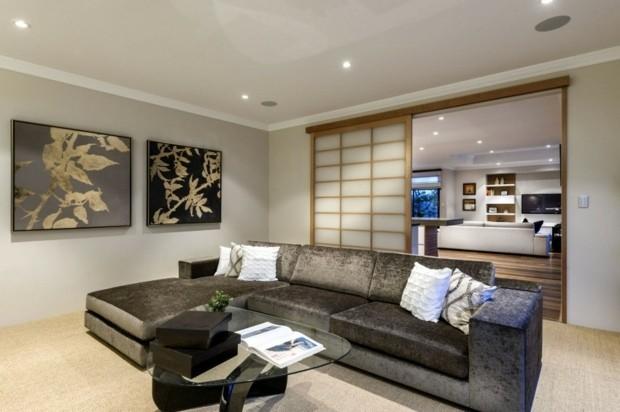 salon contemporain design minimaliste zen