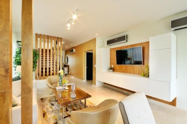 salon deco moderne bois