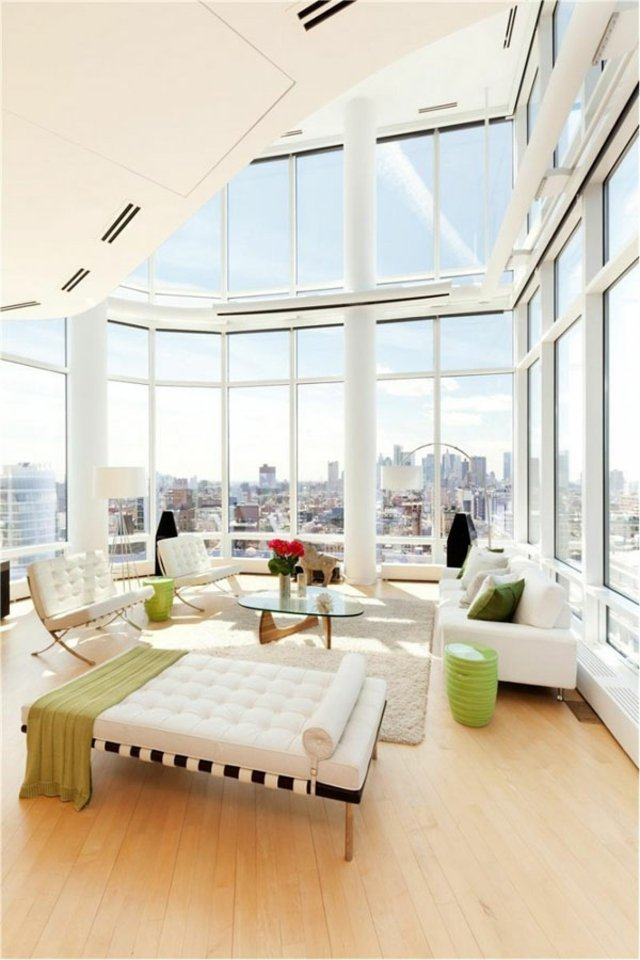 salon lumineux moderne