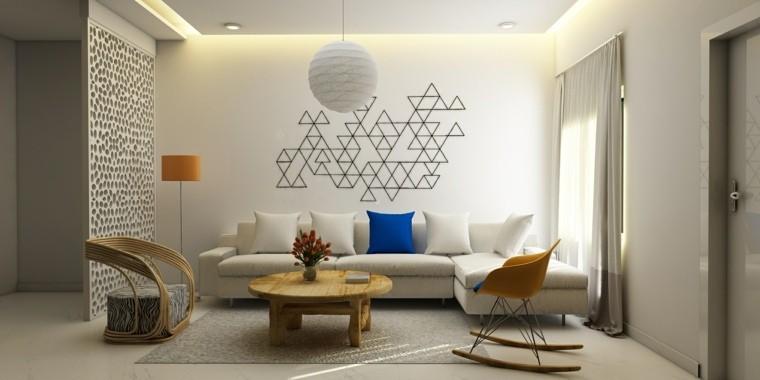 salons modernes tendances mur deco