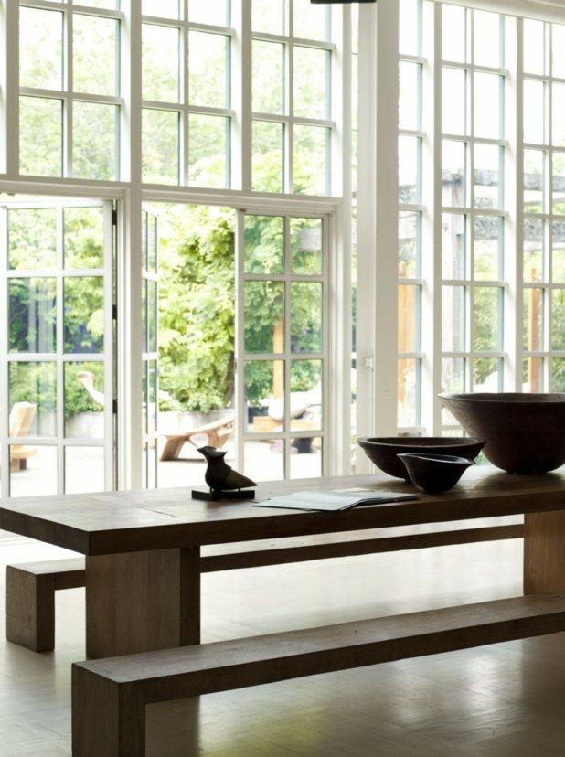 table bois massif zen decoration
