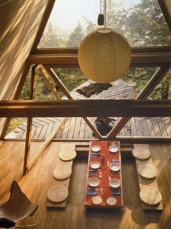 zen table japonaise vue haut