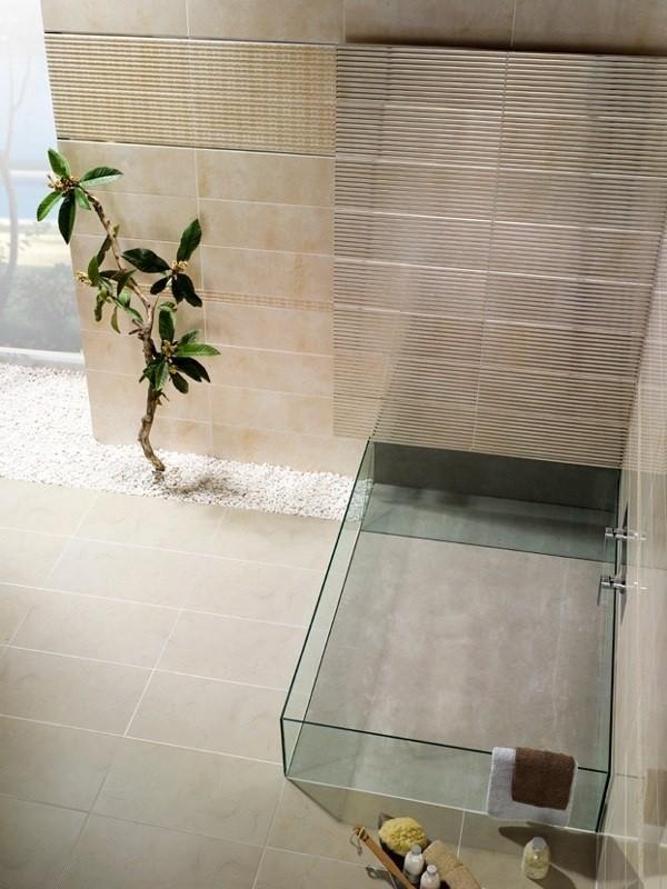 zoom salle bain zen lavabo verre