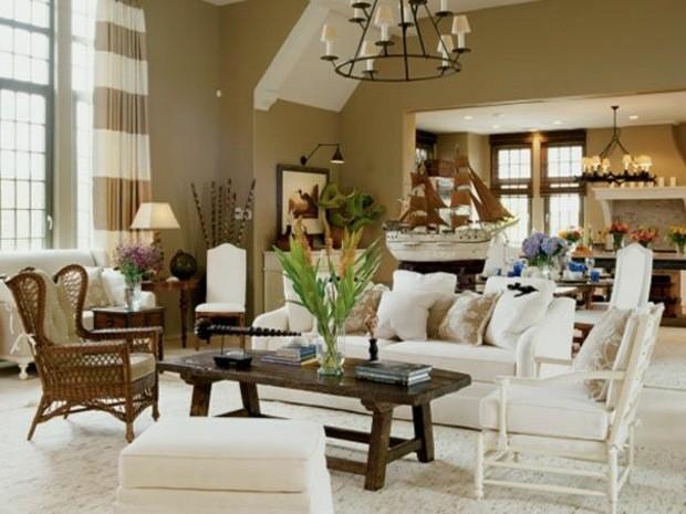 beau salon lumière naturelle mobilier éclectique