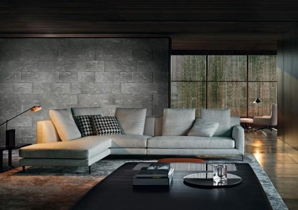 salon grand canapé d'angle