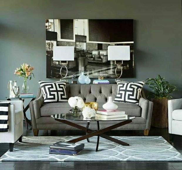 décoration éclectique salon riche en motifs