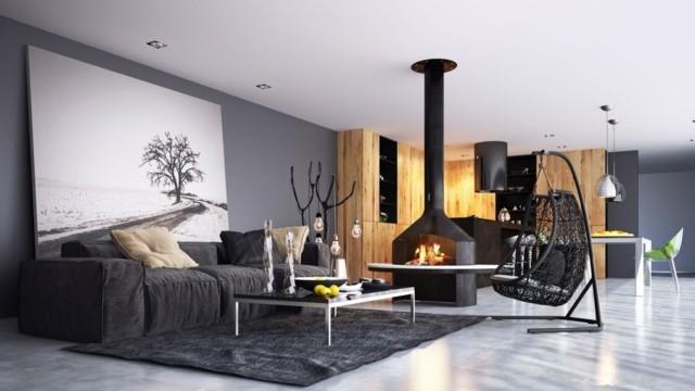 Quelques idées originales pour la déco coin cheminée - Decoration ...