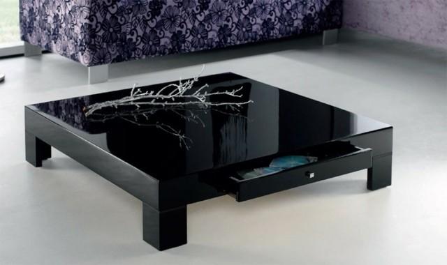 design basse variante table séjour noire laque