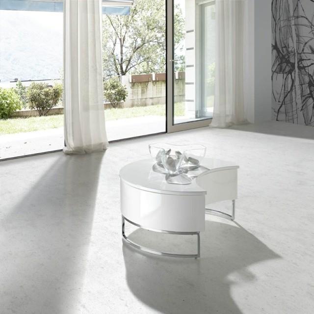 Lune inspiration petite meuble table basse salon