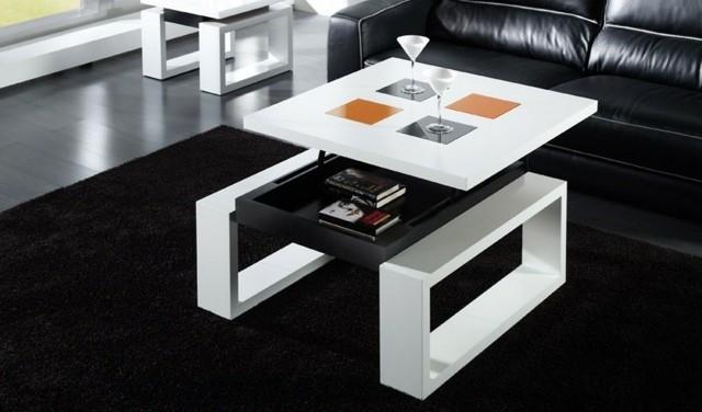 géométrique asymétrique modèle table salon inaperçu