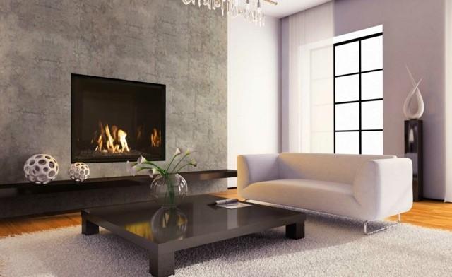idee decoration minimaliste cheminee