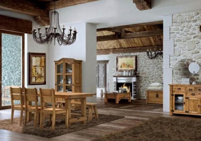 33 id es pour une salle manger en bois decoration salon. Black Bedroom Furniture Sets. Home Design Ideas