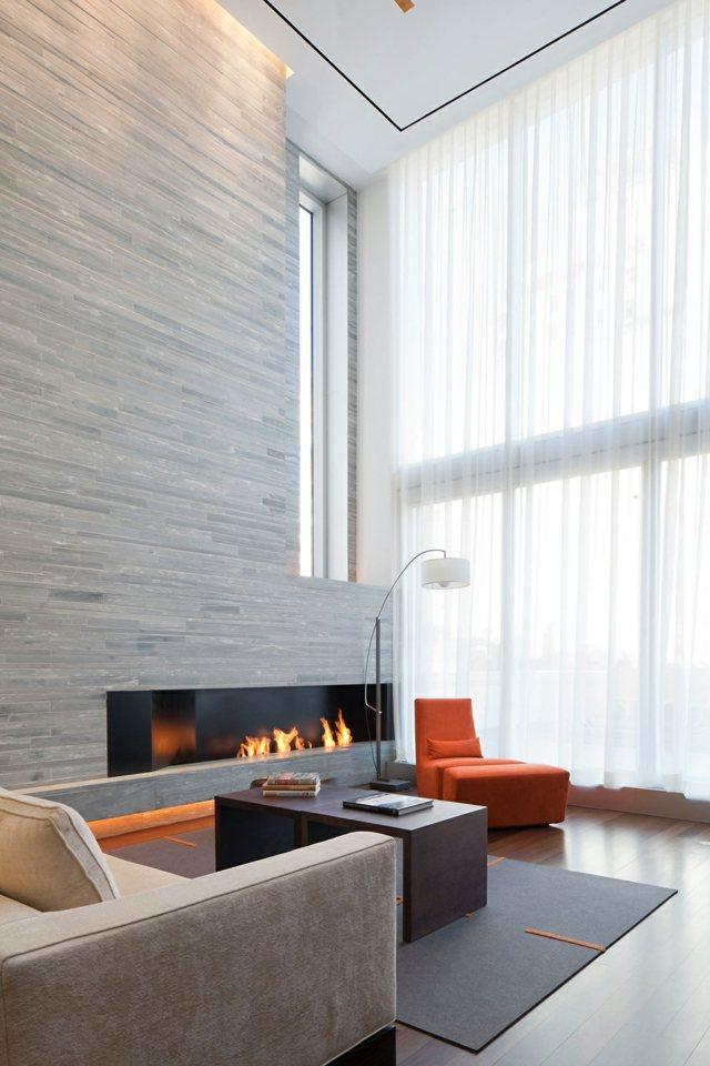 Quelques id es originales pour la d co coin chemin e decoration salon - Deco salon cheminee moderne ...