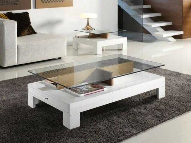 esprit pratique basse table espace grande petite tendance