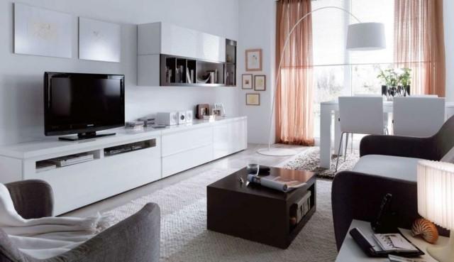meuble télé design blanc