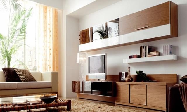 meuble télé design bois