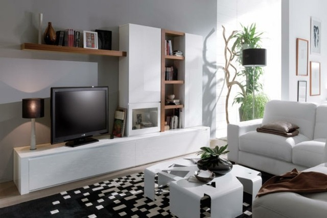meuble tele blanc