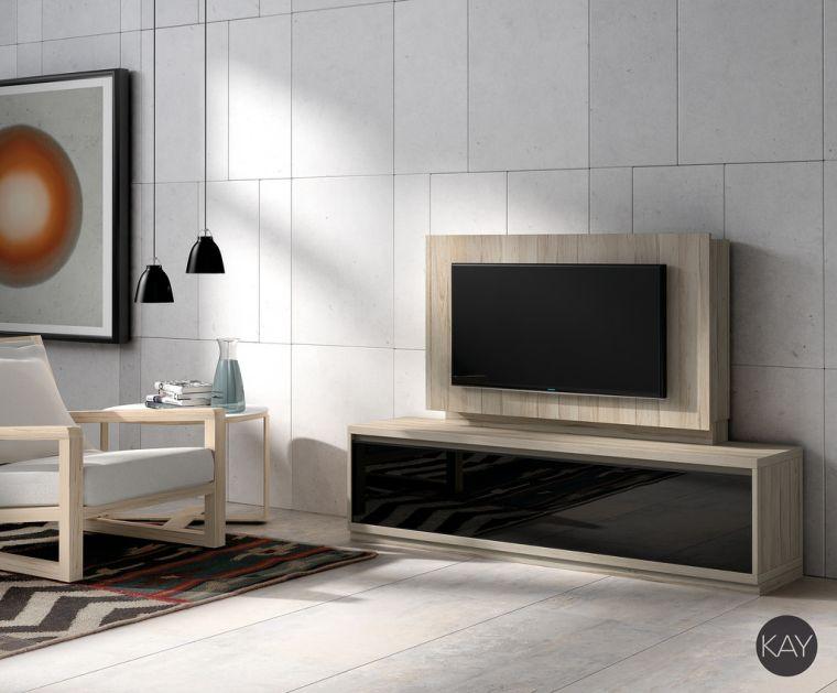 meuble télé design deco bois salon