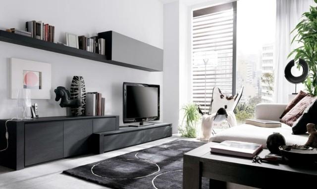 meuble tele elegant noir