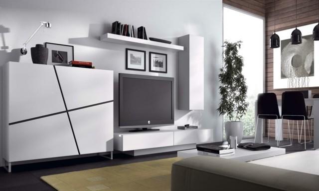 mobilier tele blanc