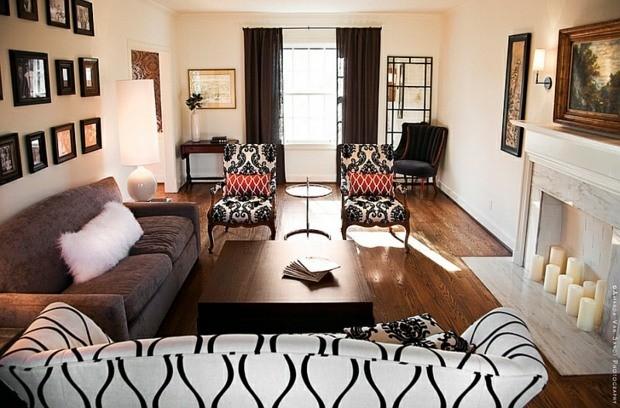 noir blanc accent rouge interieur design fenetre