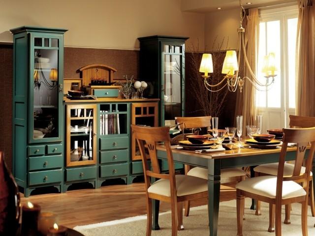 salle à manger en bois rustique