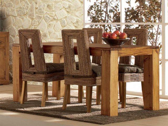 salle à manger en bois table