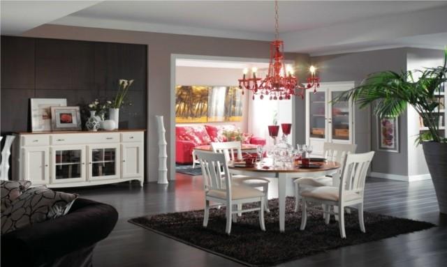Salle A Manger Rouge Et Blanc Beautiful Salon Blanc Gris Rouge Noir
