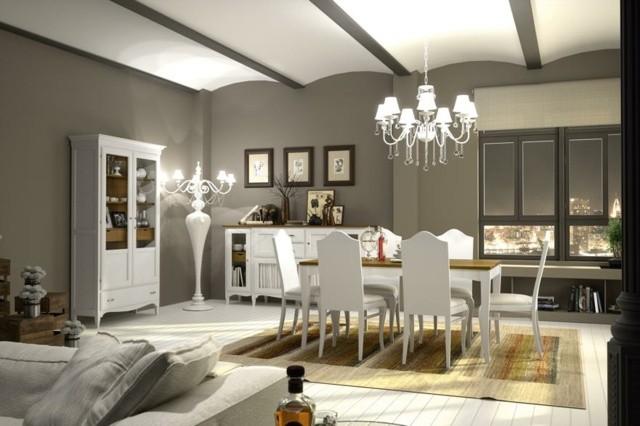 salle manger blanche moderne