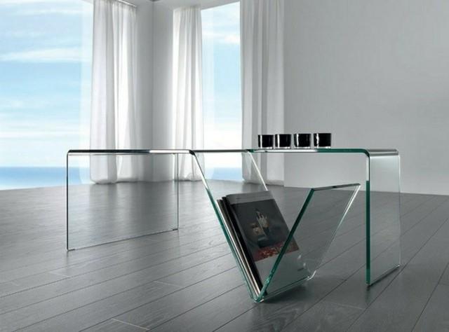 table basse design en verre futuriste merveille salon
