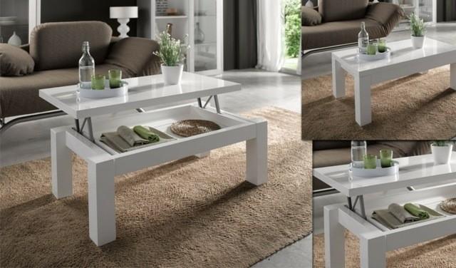 table basse simpliste montante esprit pratique stockage