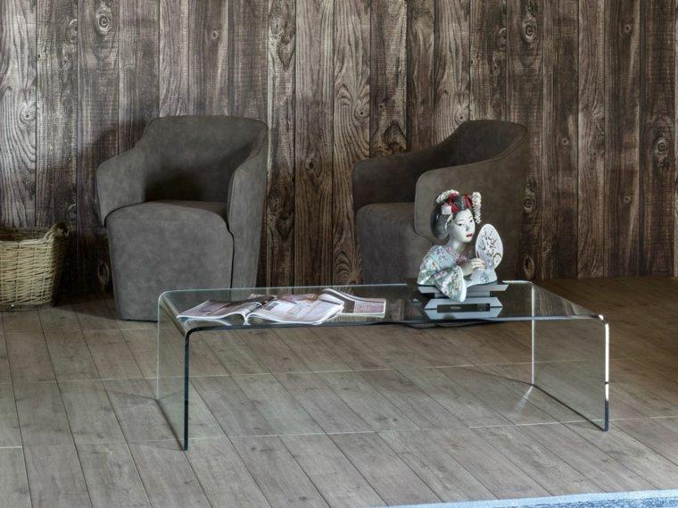 table basse design idees salon moderne verre
