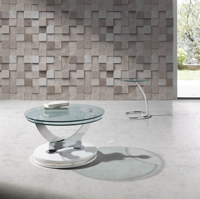 table futuriste verre pieds particuliers salon