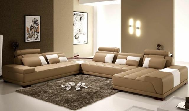 Magnifiques canapés beiges pour un style unique séjour