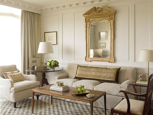 séjour moderne beige style classque appliquer chateau