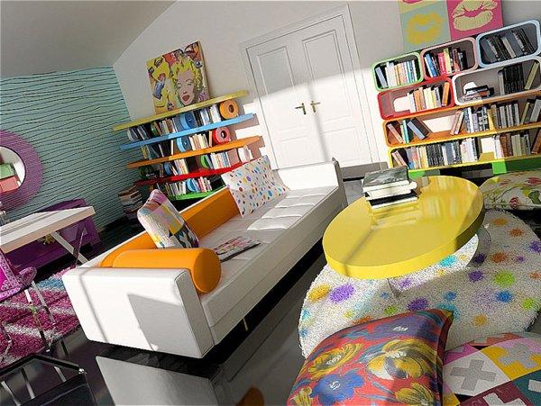 Idée déco salon couleur
