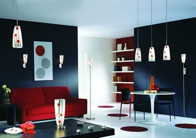 Déco salon en couleur rouge – quelques idées magnifiques et ...
