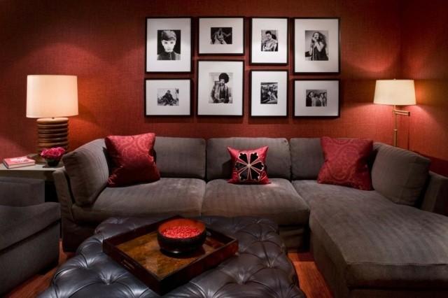 Déco salon en couleur rouge – quelques idées magnifiques et tendance ...