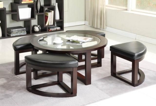 double-table-basse-en-verre-bois-tabourets-sympas