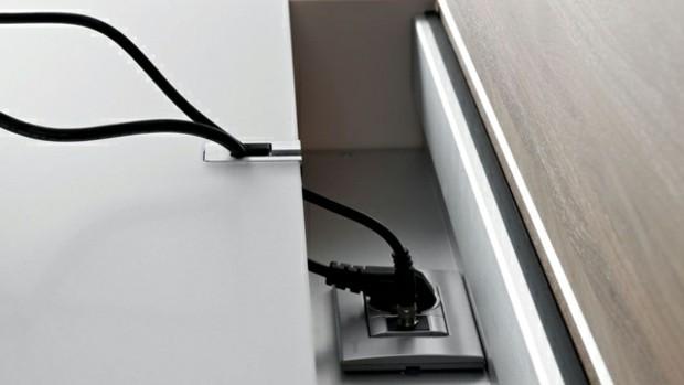 mobilier de salon prevoit espace dissimuler cables