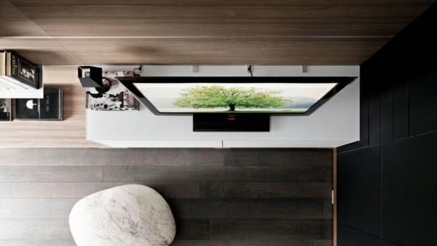 mobilier ingenieux espace pour dissimuler cables