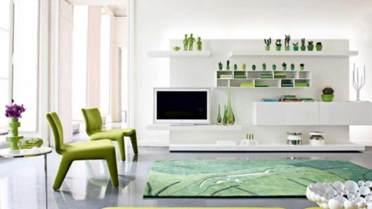 Couleur Salle De Sejour fraîches et cool – 20 idées salle de séjour en vert et blanc