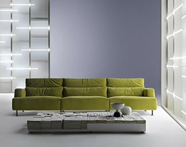 salon deco minimaliste gris vert